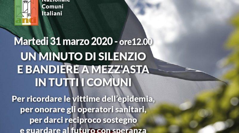 Martedì 31 marzo bandiere a mezz'asta nei Comuni italiani